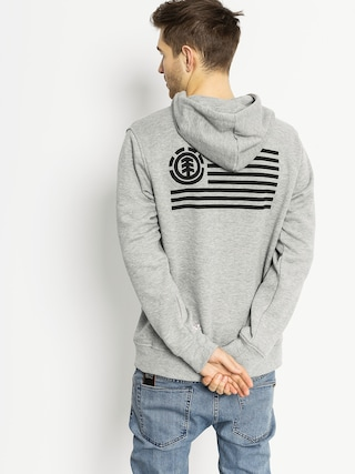 Mikina s kapucí Element Flag HD (grey heather)