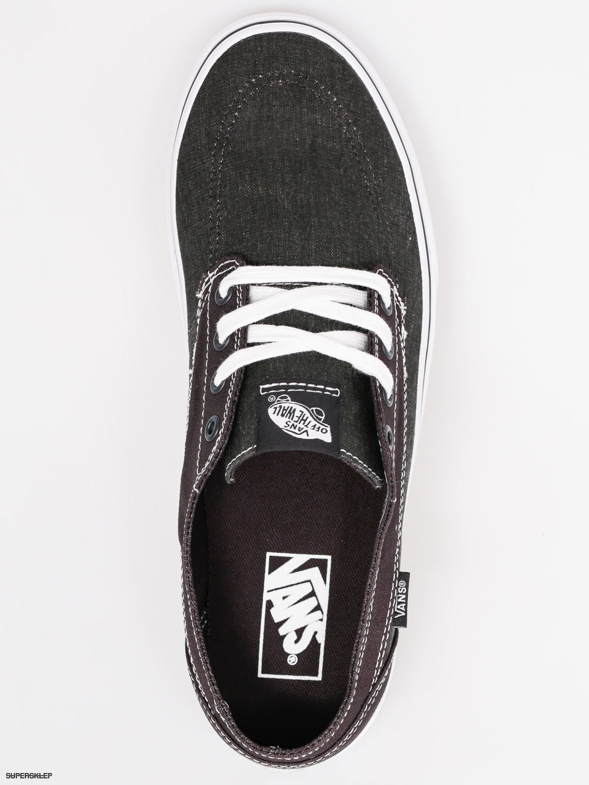 ee16d030a5a6 Boty Vans Brigata (washed canvas pirate black white)