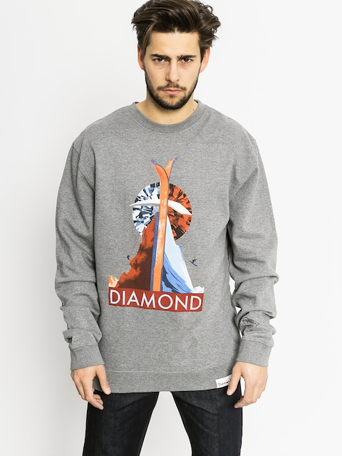 Mikina Diamond Supply Co. Diamond Peak (gunmetal heather)