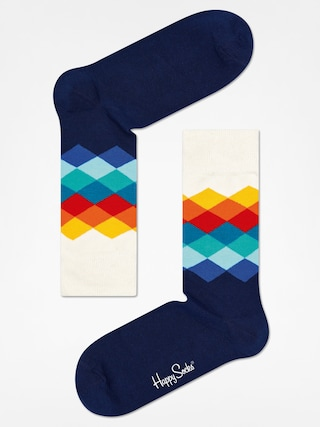 Ponou017eky Happy Socks Faded Diamond (navy/white/multi)