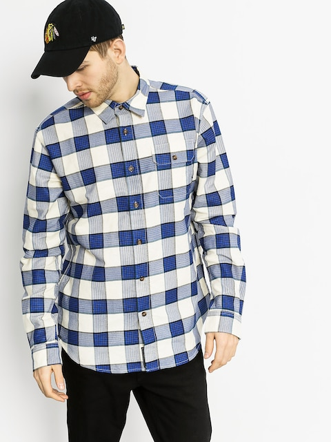 Košile Diamond Supply Co. Holiday Flannel Plaid LS (navy)