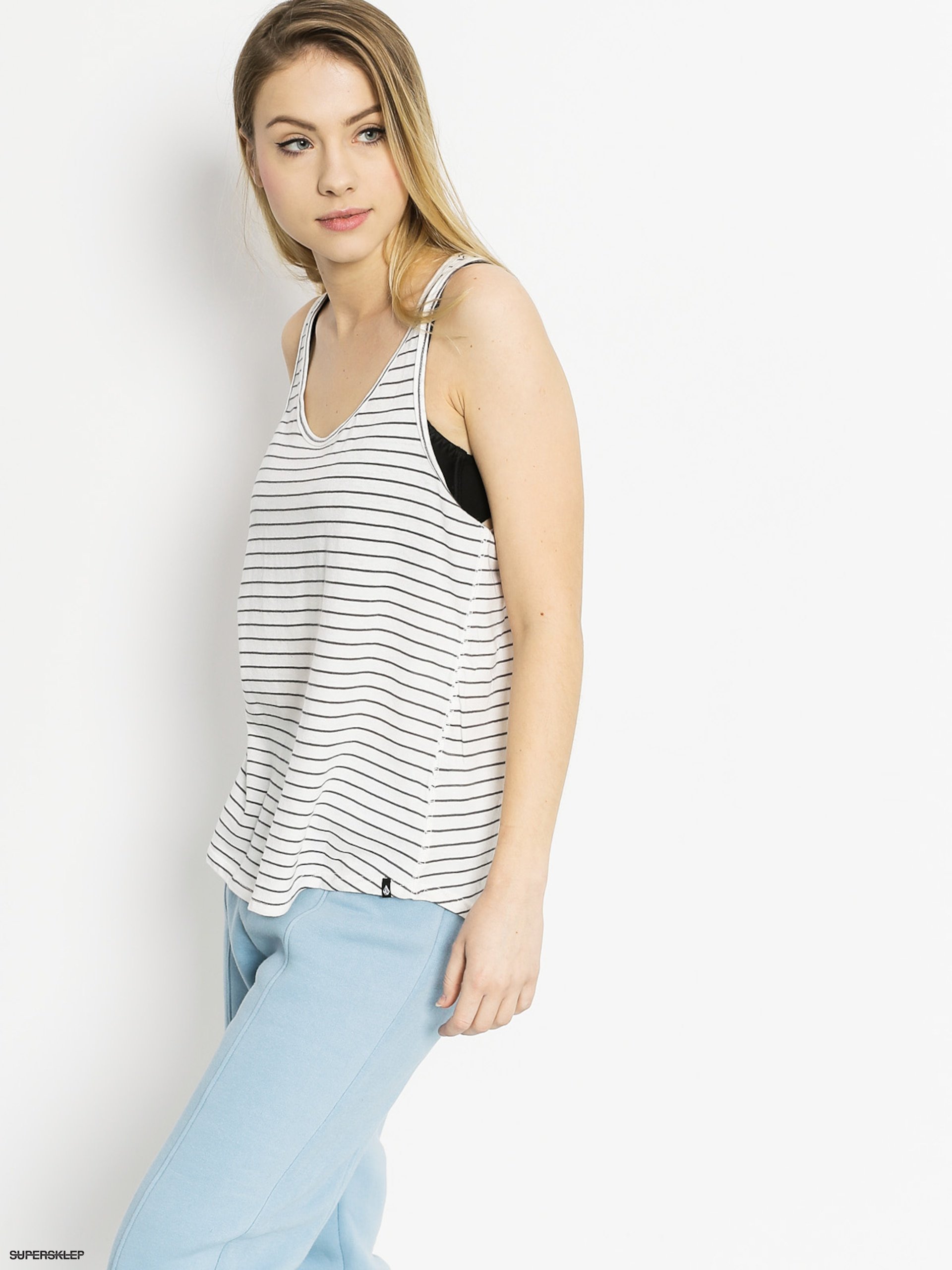 Tričko Volcom Lived In Stripe Tank Wmn