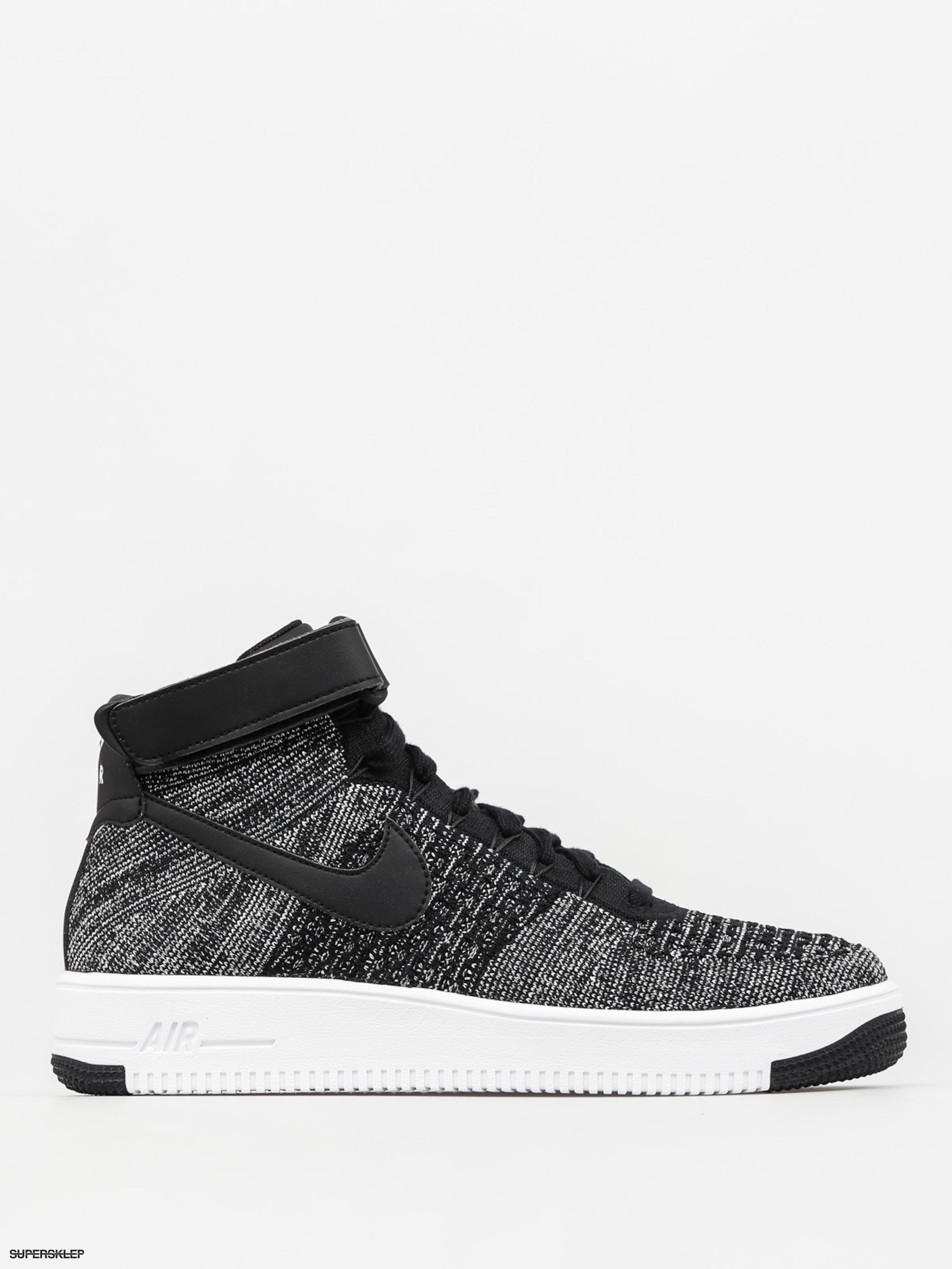 Boty Nike Air Force 1 Ultra Flyknit Mid (black black white) f4a3db6499