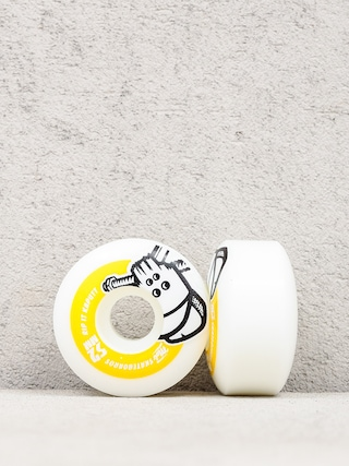 Kolečka Mob Skateboards Skull (white/yellow)