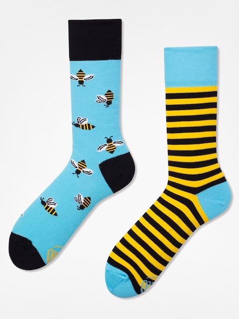 Ponožky Many Mornings Bee Bee (blue/yellow)