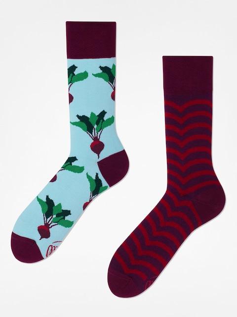 Ponožky Many Mornings Beetroot (maroon/light blue)