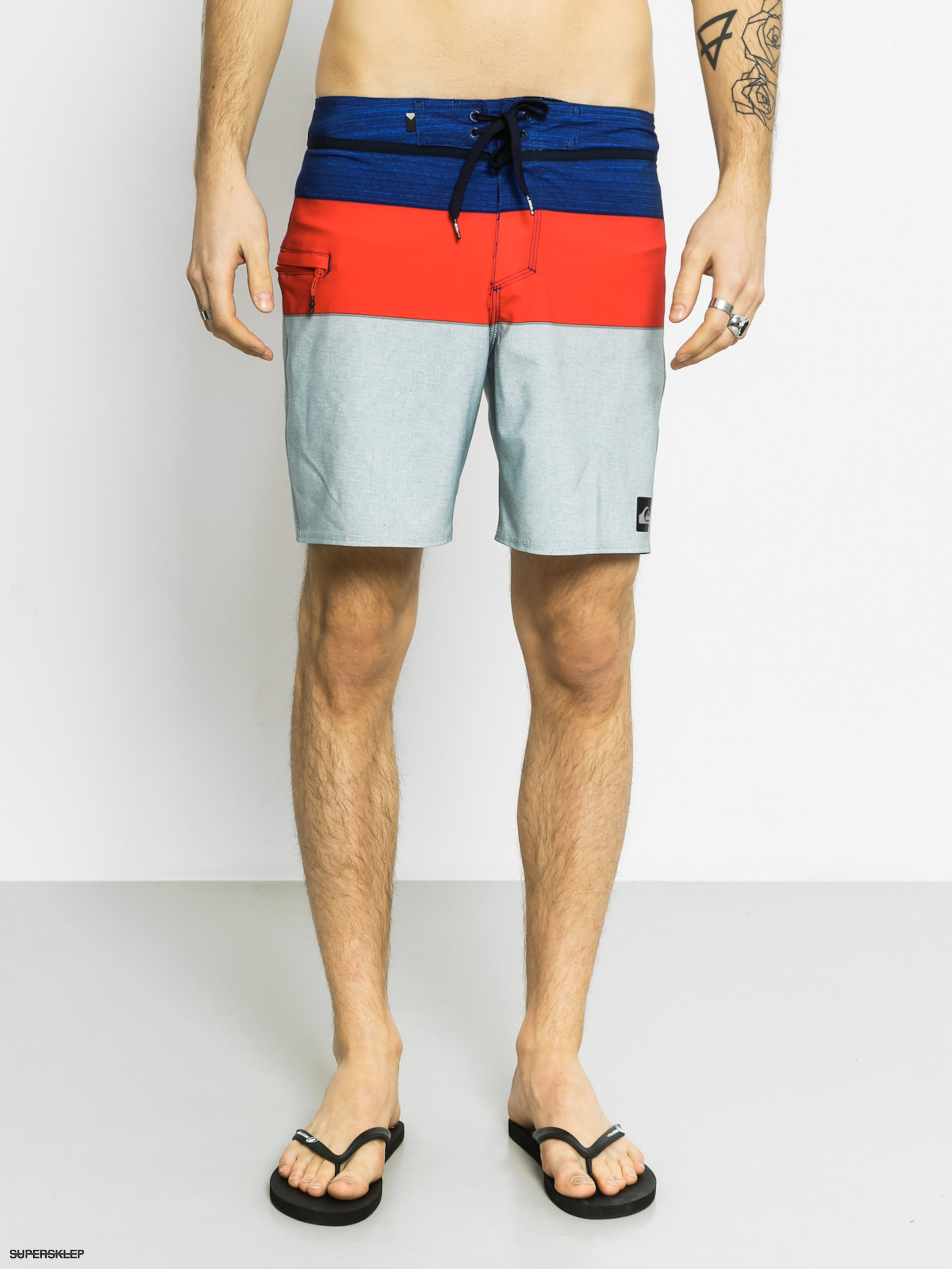 Plážové kraťasy Quiksilver Everyd Block Boardshort (navy/red/light blue)