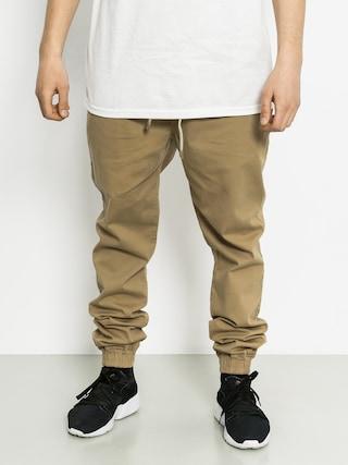 Kalhoty Malita Jogger (beige/aztek green pocket)