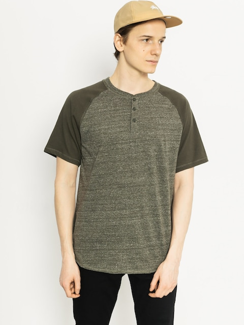 Tričko DC Enderlin Henley (dark olive heather)