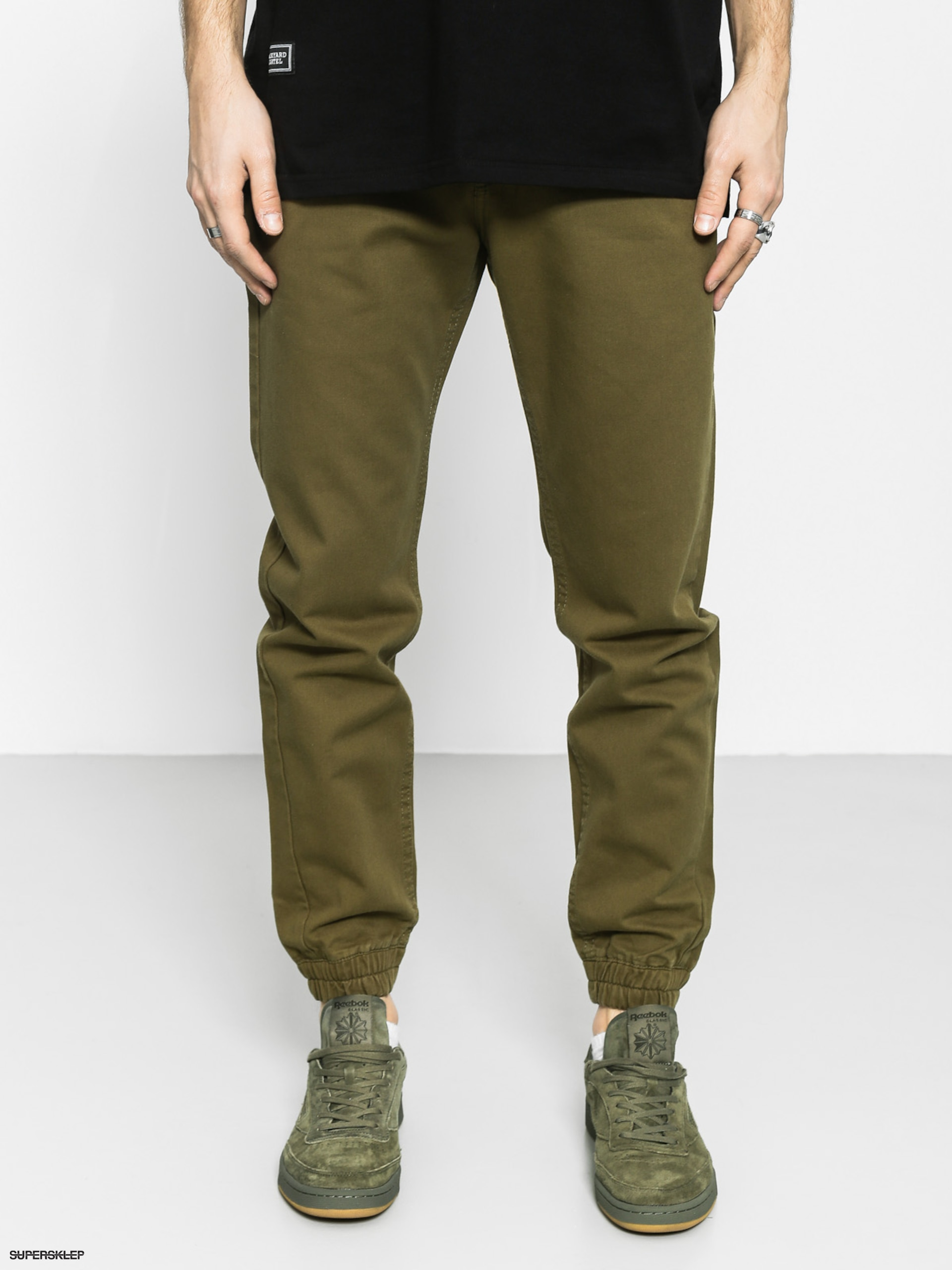 Kalhoty Backyard Cartel Chino Jogger (olive green)