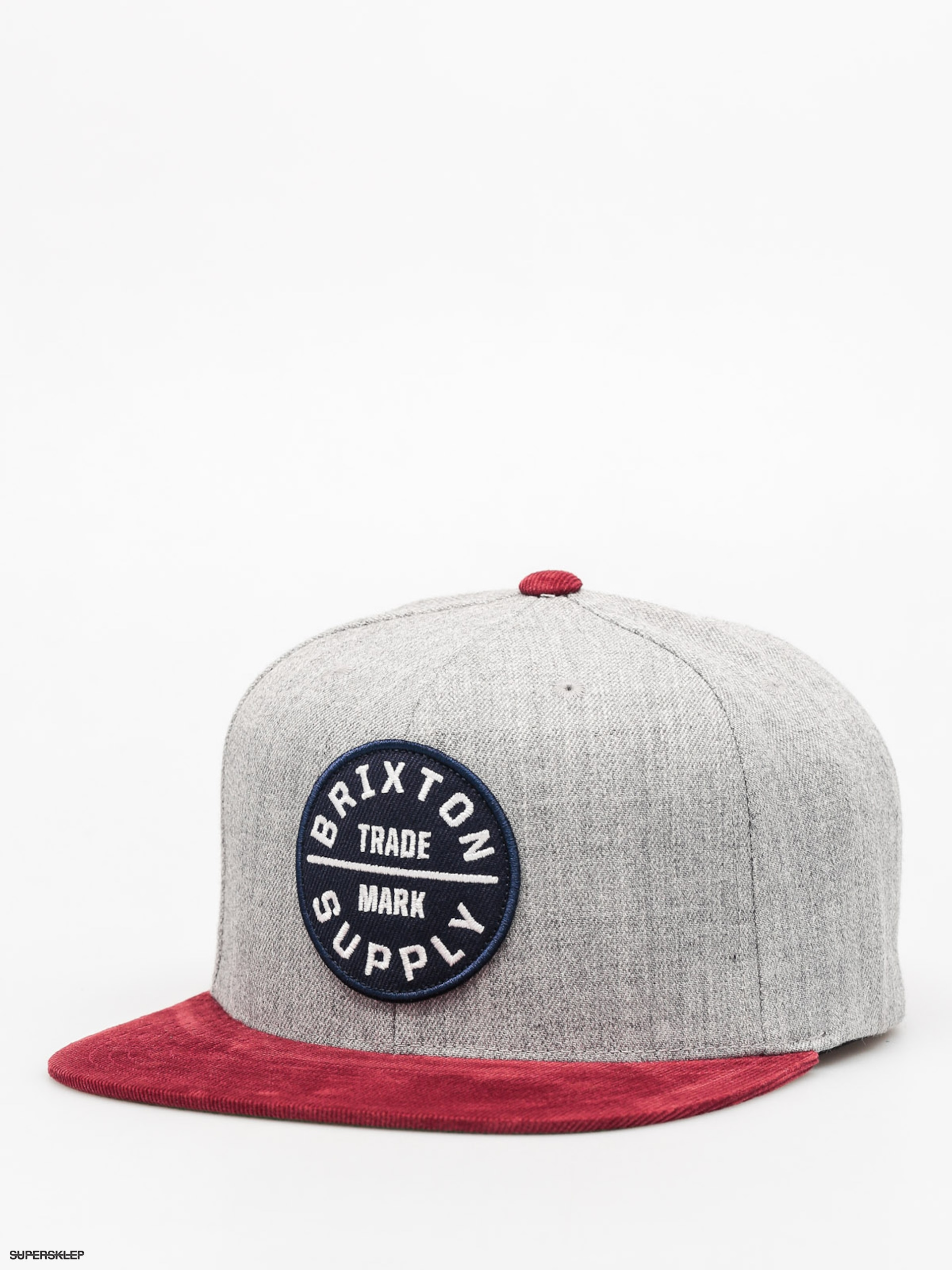 Kšiltovka  Brixton Oath III Snap (heather grey/cardinal)