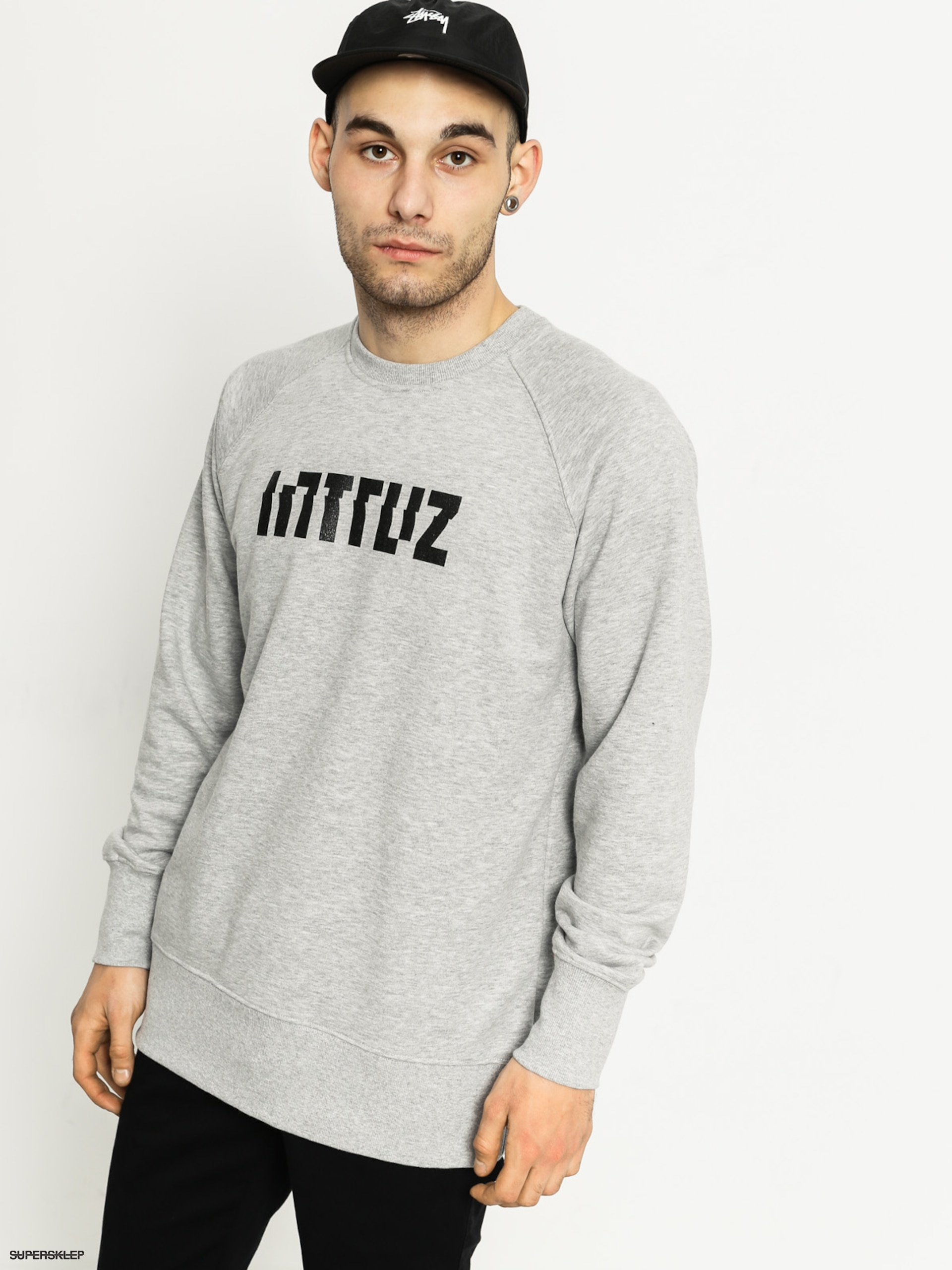 Mikina Intruz Logo (grey heather)