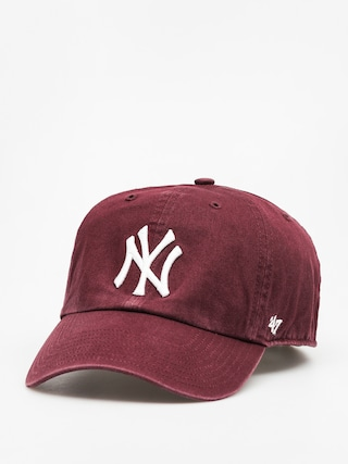 Kšiltovka  47 Brand New York Yankees ZD (washed maroon)