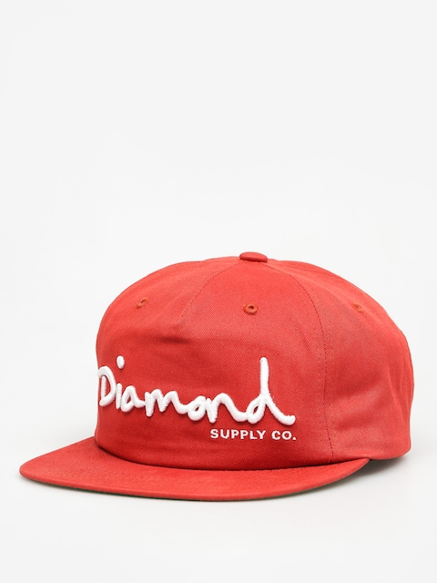 Diamond Supply Co. Kšiltovka Og Script Snapback ZD (red)