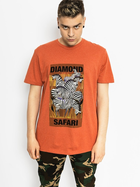 Diamond Supply Co. Tričko Safari (burnt orange)