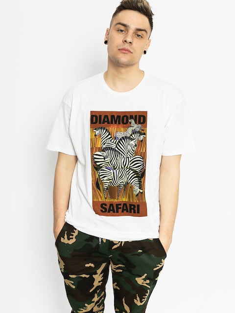 Diamond Supply Co. Tričko Safari (white)