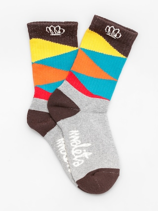 Malita Ponožky Triangles (turquise/orange)