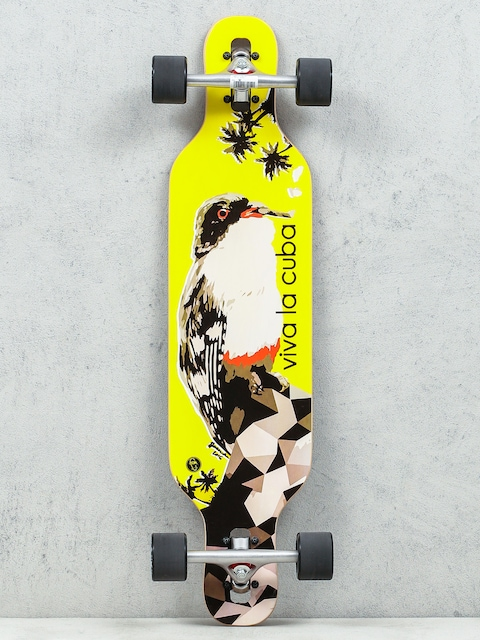Longboard Fish Skateboards Viva (silver/black)
