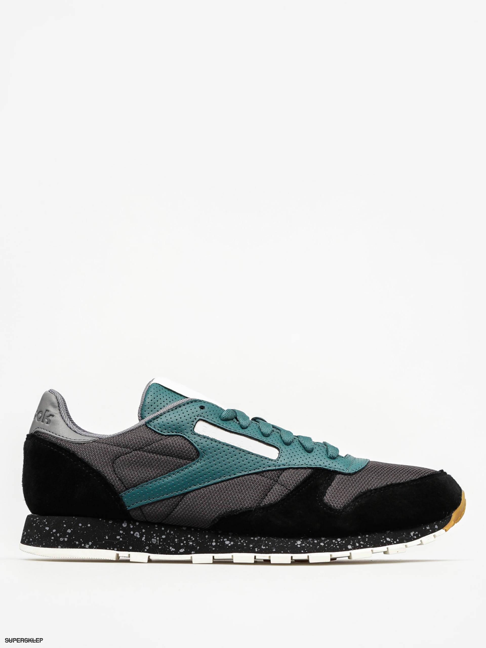 Boty Reebok Cl Leather Sm (black/washed jade/all)