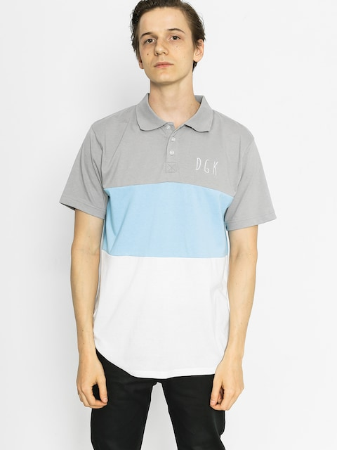DGK Polo tričko Saturday Custom (grey/blue/white)