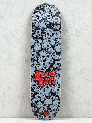Deska Blackout I Like Skulls (black/white)