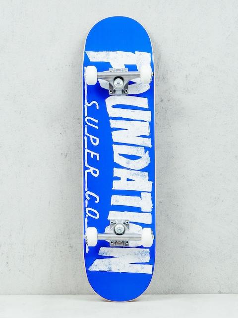 Skateboard Foundation Thrasher (blue/white)