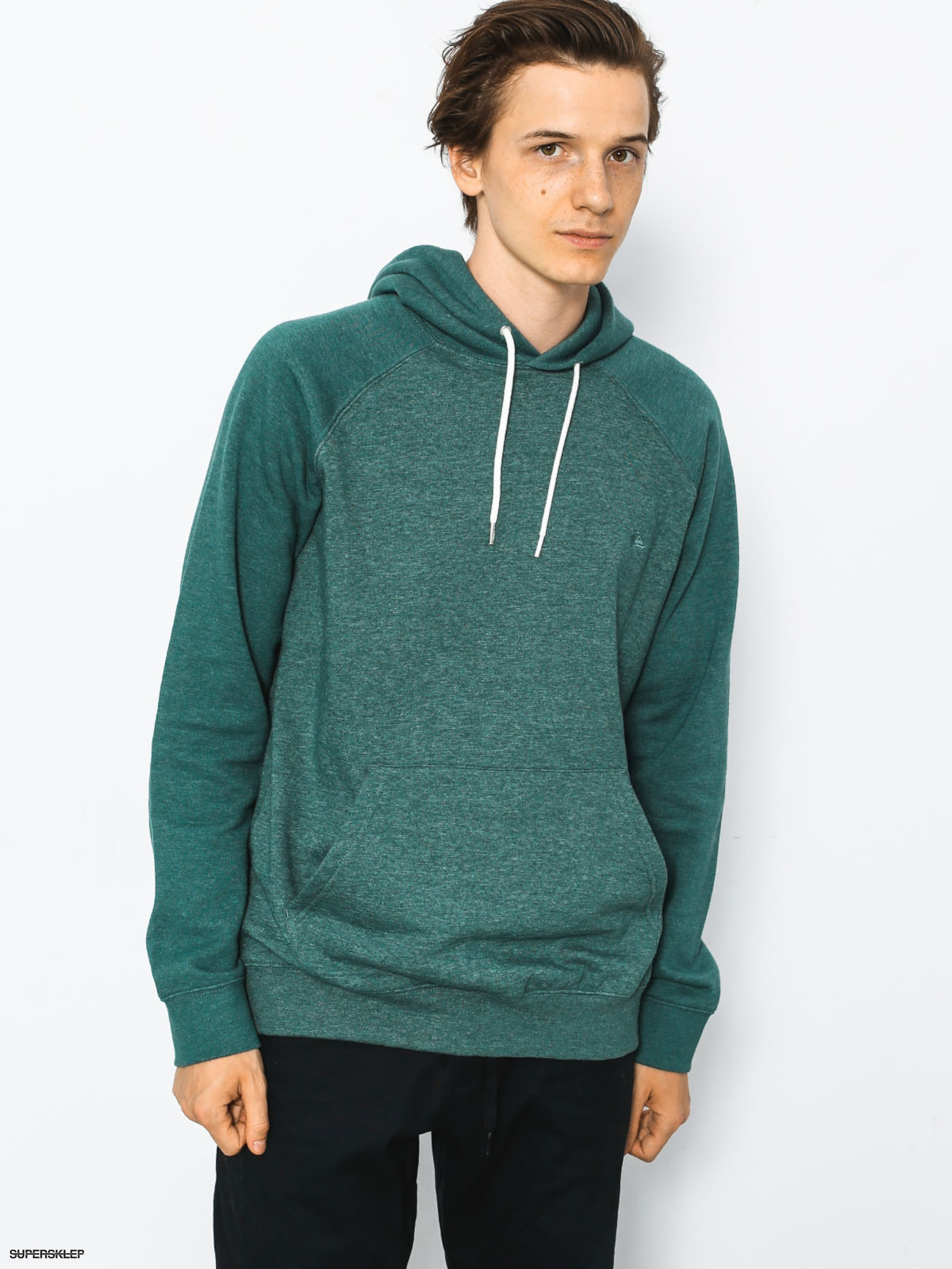 Mikina s kapucí Quiksilver Everyday HD (silver pine heather)