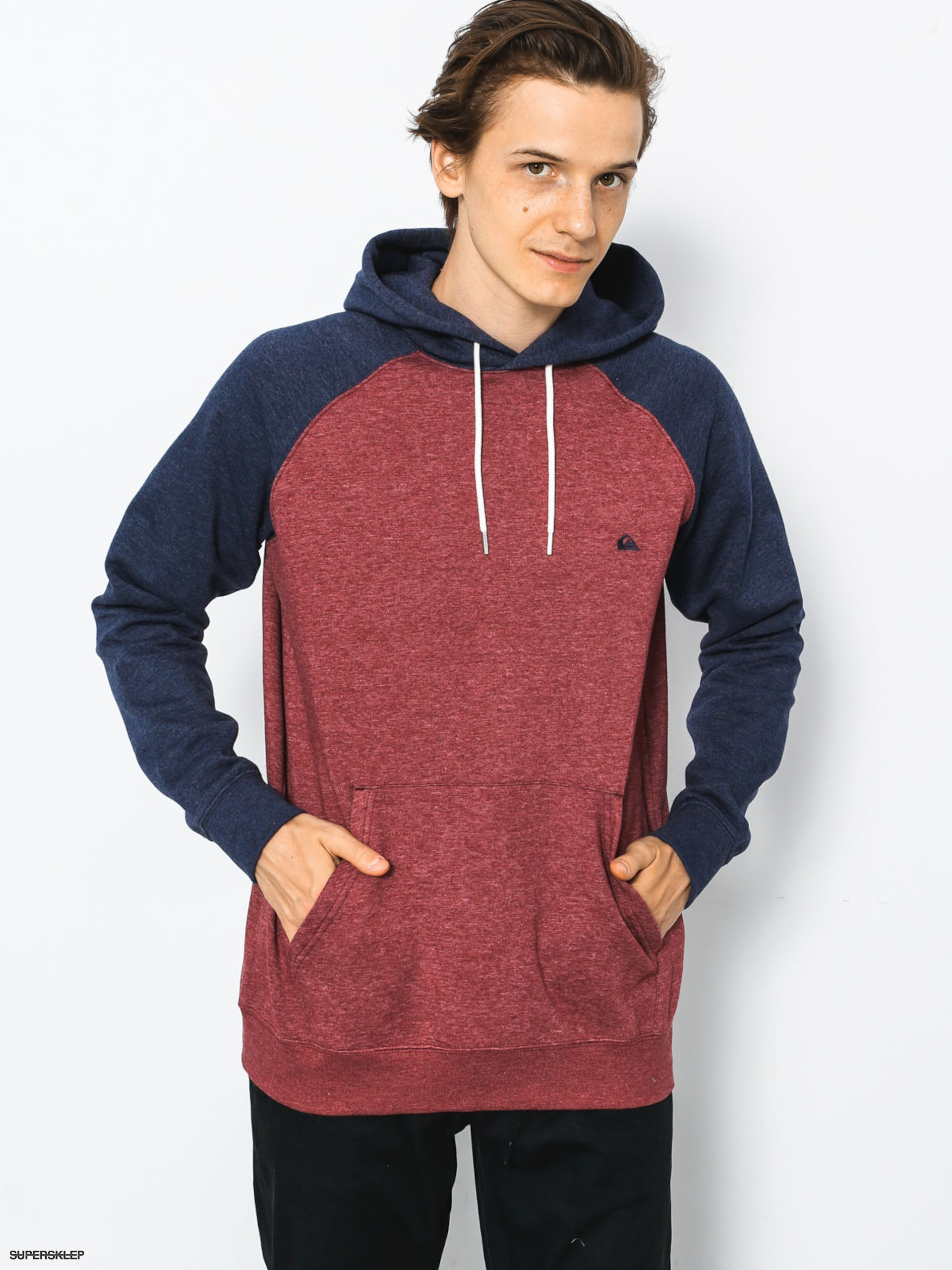 Mikina s kapucí Quiksilver Everyday HD (pomegranate heather)