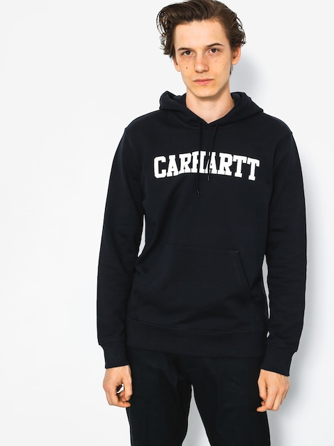 Mikina s kapucí Carhartt College HD (dark navy/white)