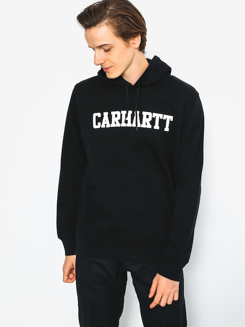 Mikina s kapucí Carhartt College HD (black/white)