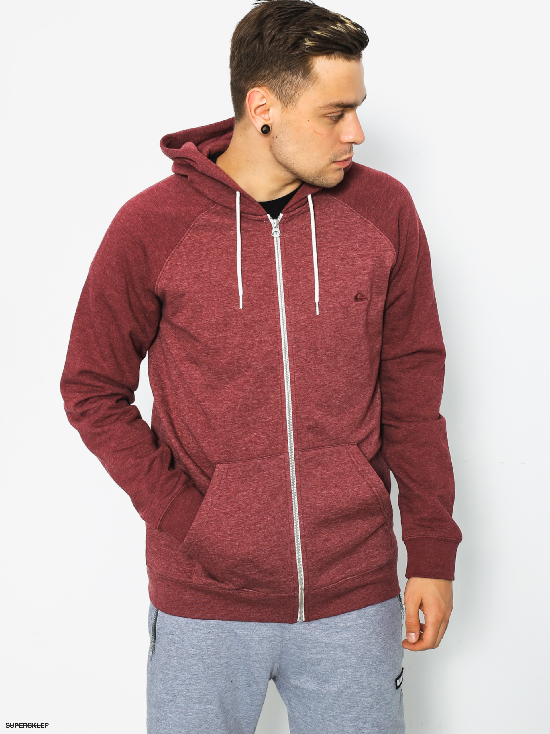 Mikina s kapucí Quiksilver Everyday ZHD (pomegranate heather)