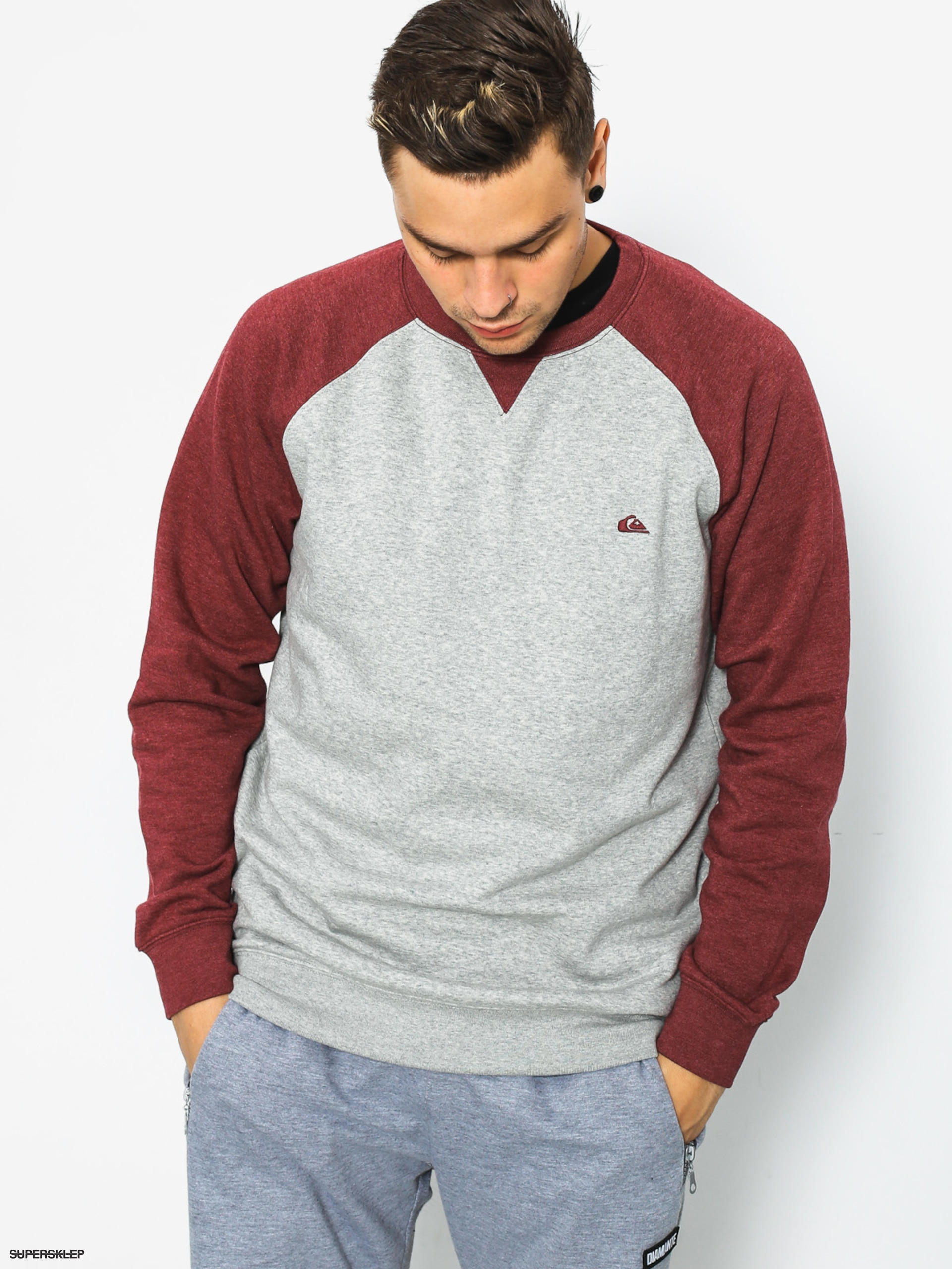 Mikina Quiksilver Everyday Crew (light grey heather)