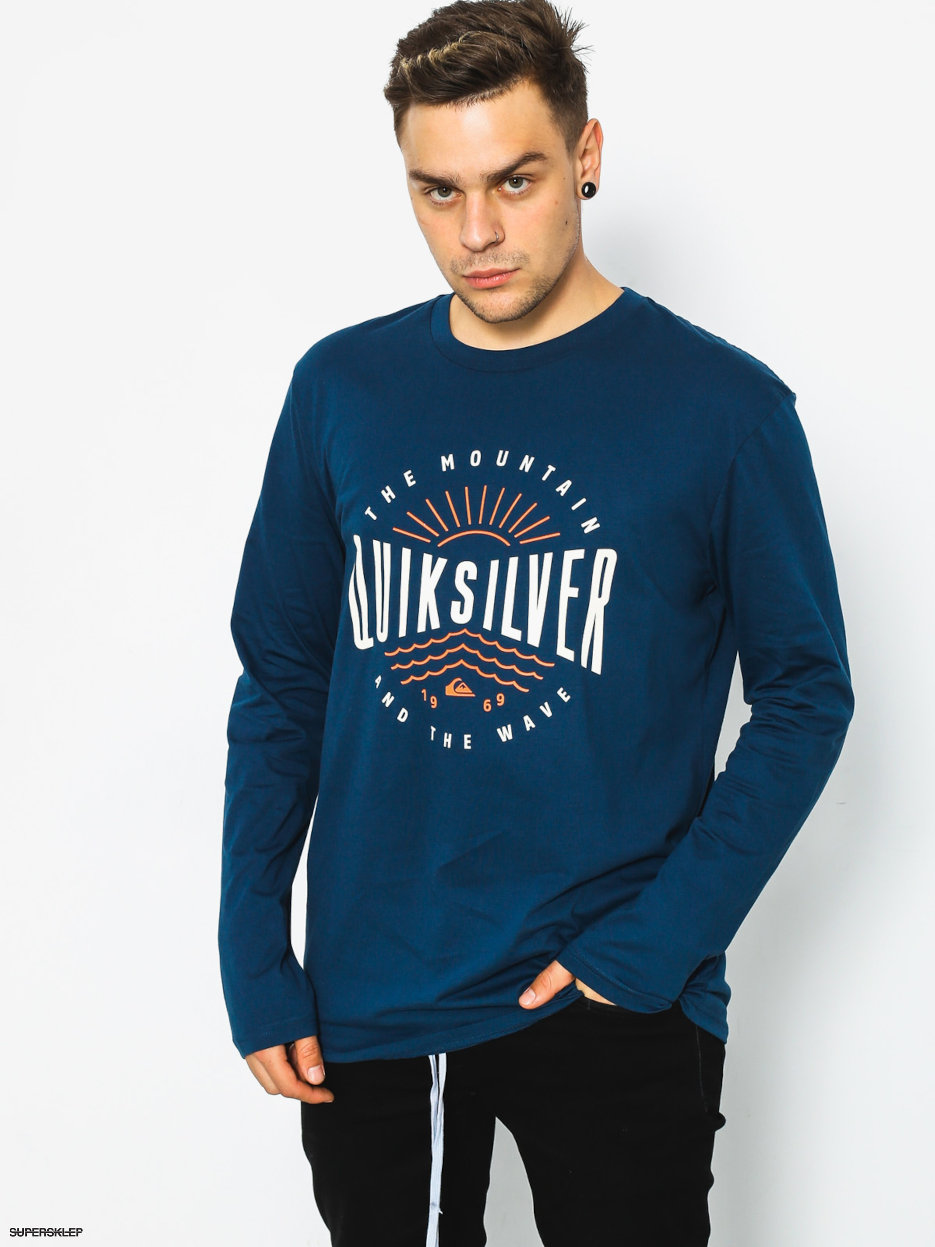 Triko Quiksilver Mad Wave (dark denim)