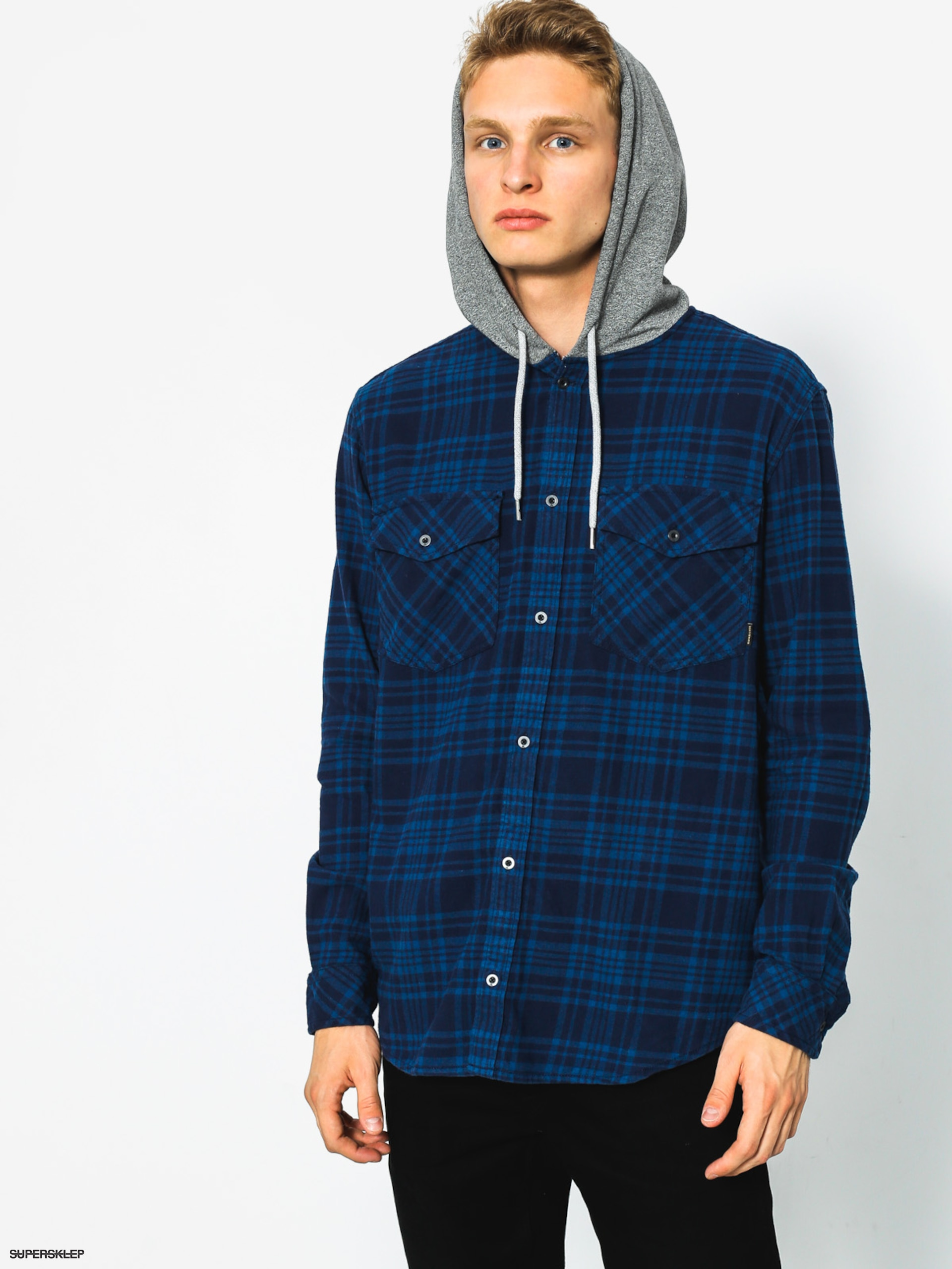 Košile Quiksilver Snap Up LS (navy snap up)