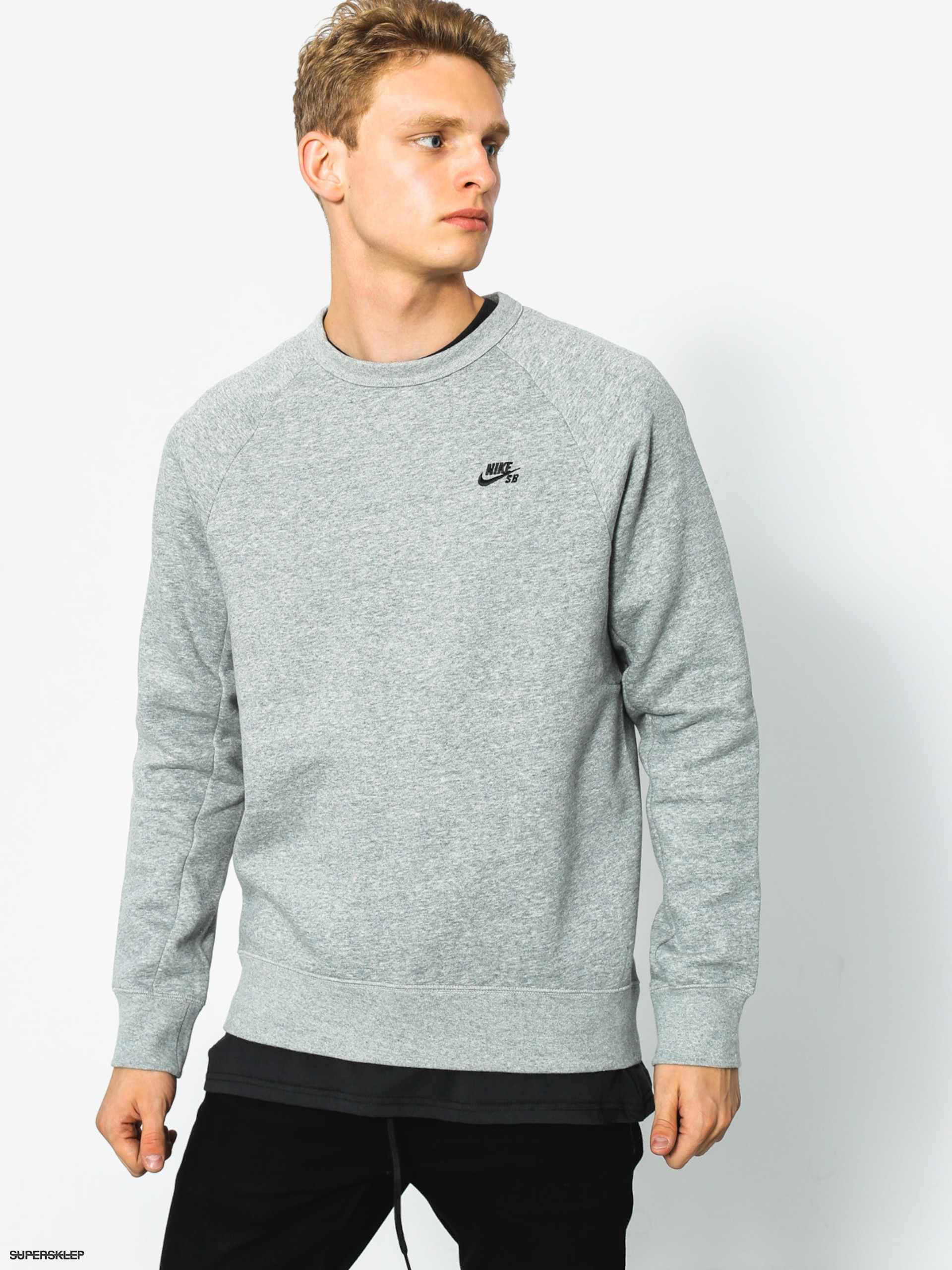 Mikina Nike SB Icon Crew (grey heather)