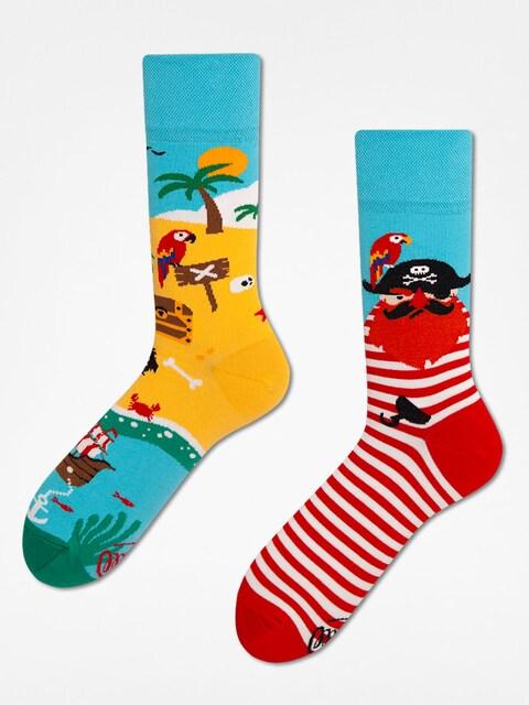 Many Mornings Ponožky Pirate Island (blue/red)