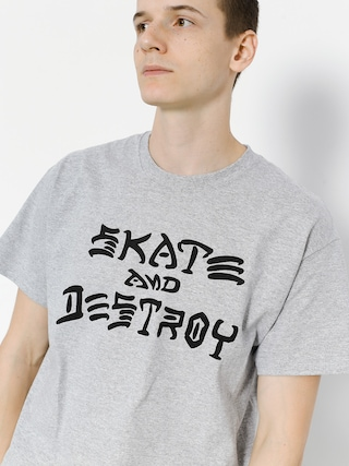 Thrasher Tričko Skate And Destroy (grey)