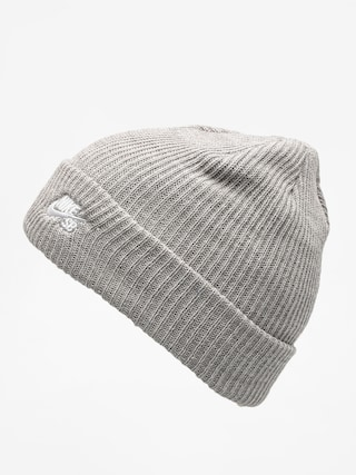 Čepice Nike SB Sb Fisherman Beanie (dk grey heather/white)