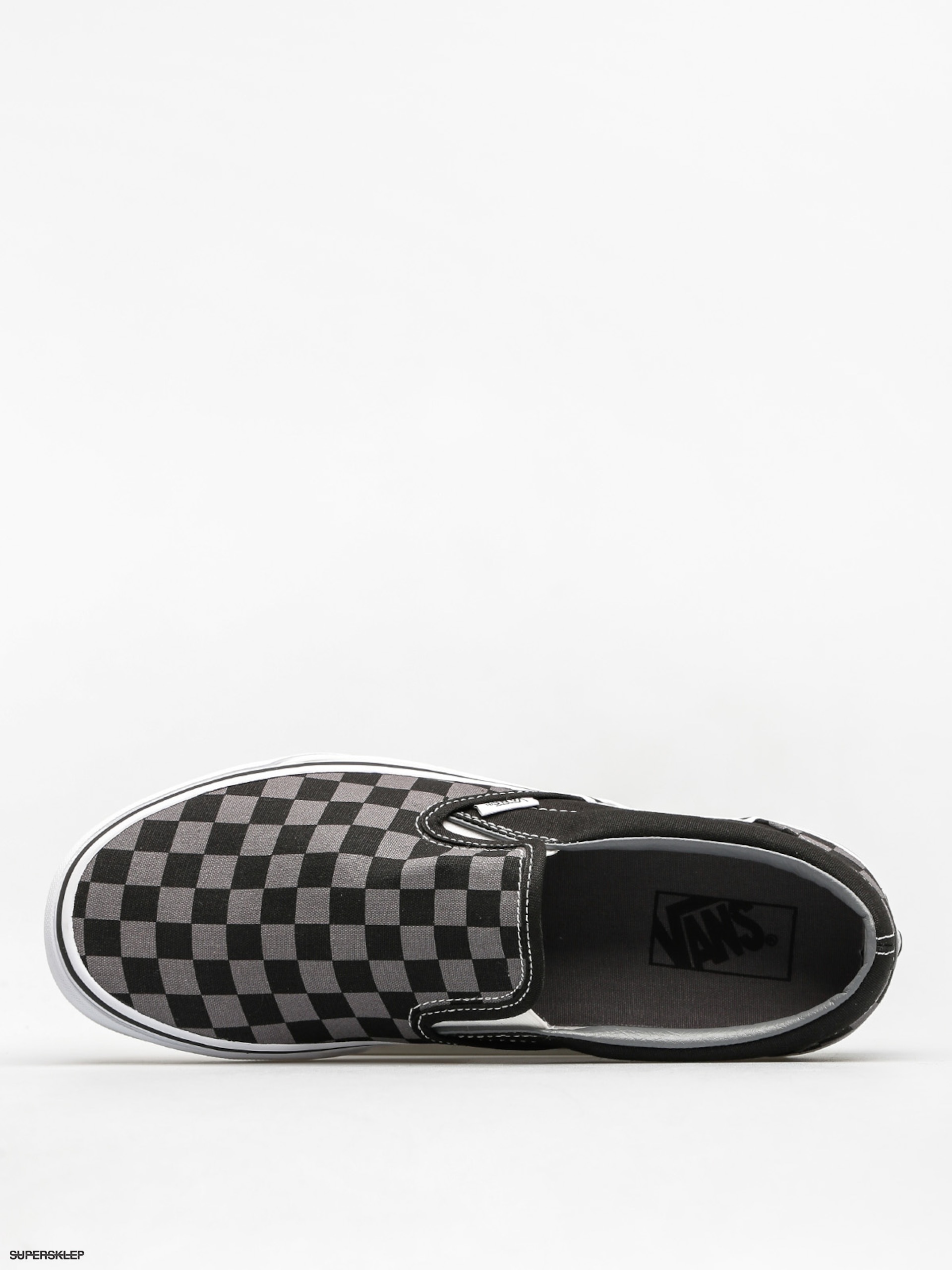 Boty Vans Classic Slip On (black/pewter checkerboard)