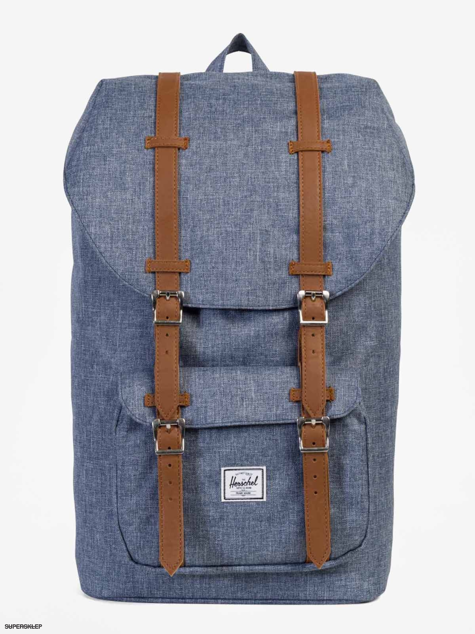 d43ea37399 Herschel Supply Co. Batoh Little America (dark chambray crosshatch tan  synthetic leather)
