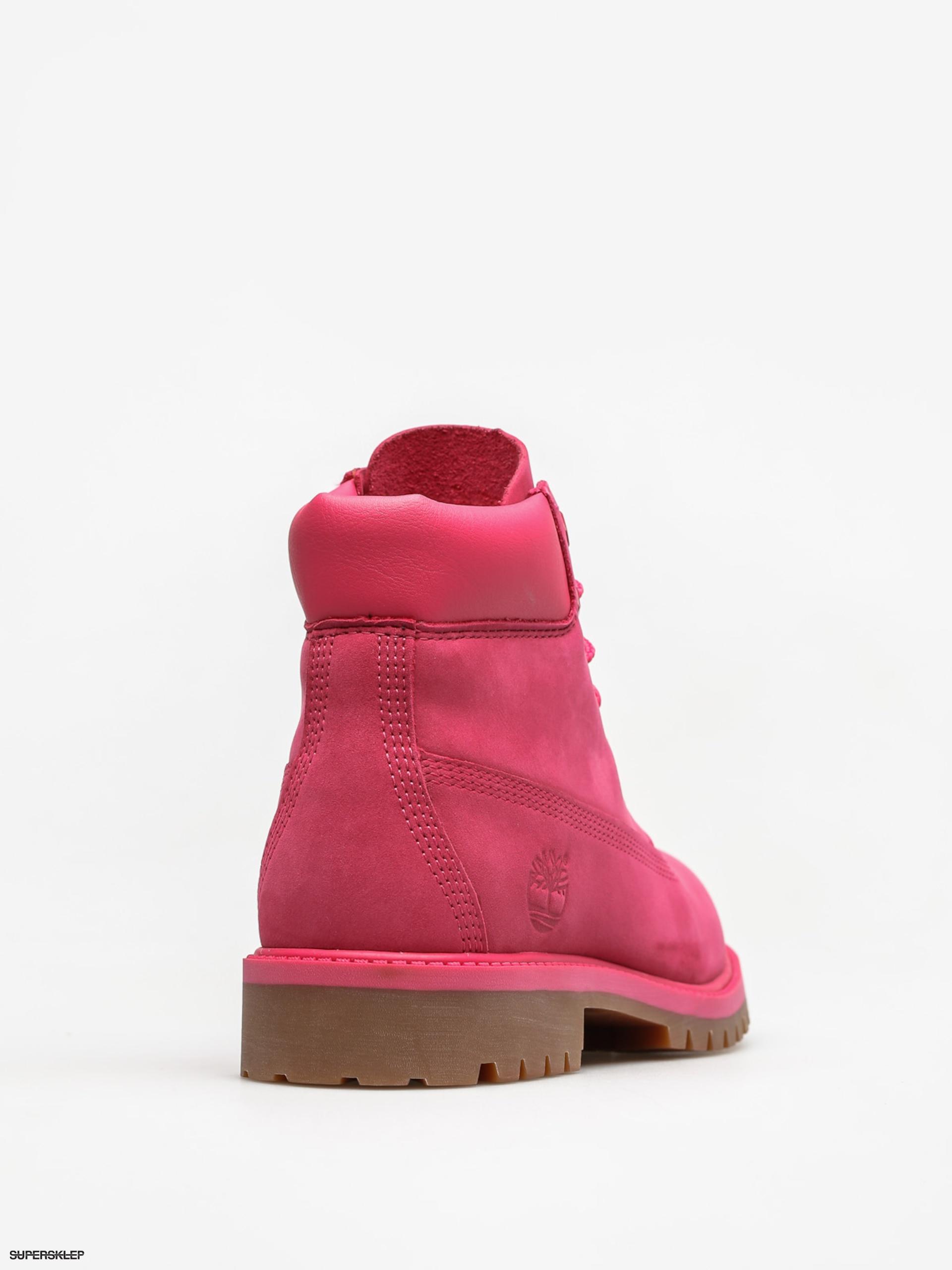 fb63320781f Dětské boty 6 Timberland In Premium Wp (bright pink nubuck)