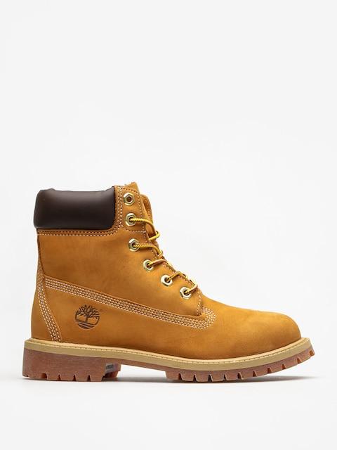 Dětské boty Timberland 6 In Premium (wheat nubuc yellow)