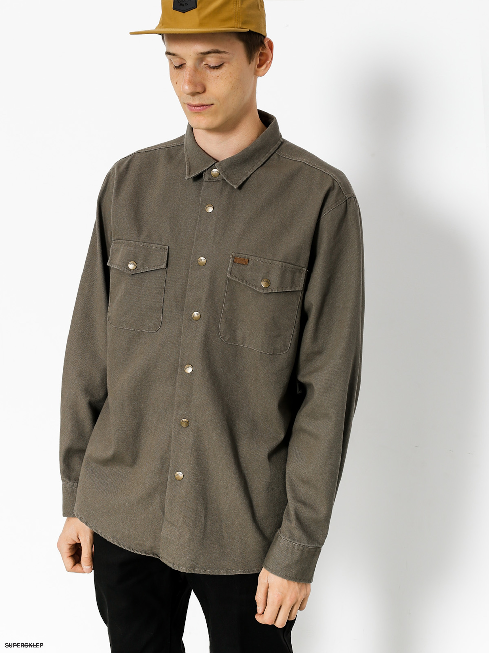 Brixton Bunda Nevada Shirt (graphite)