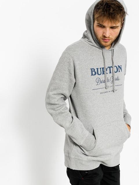 Mikina s kapucí Burton Durable Goods HD (gray heather)