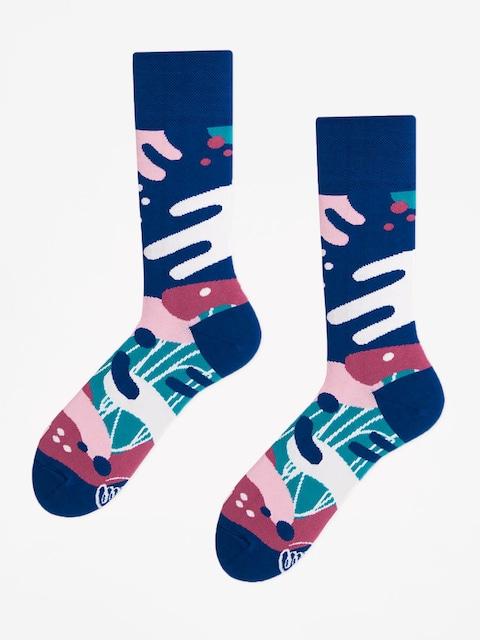 Ponožky Many Mornings Scribbles (navy)