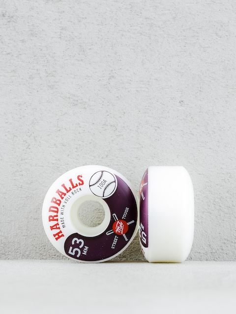 Kolečka Mob Skateboards Hardballs (white/maroon)