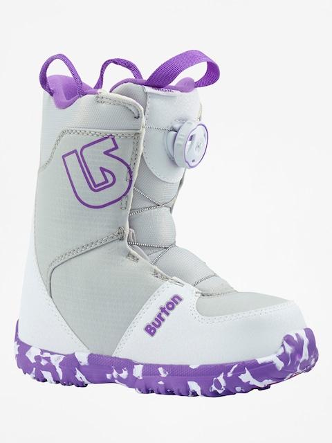 Boty na snowboard Burton Grom Boa (white/purple)