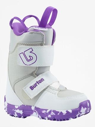 Boty na snowboard Burton Mini Grom (white/purple)
