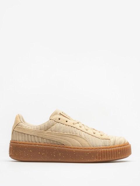 Boty Puma Basket Platform Ow Wn S Wmn (safari/safari/whisper white)