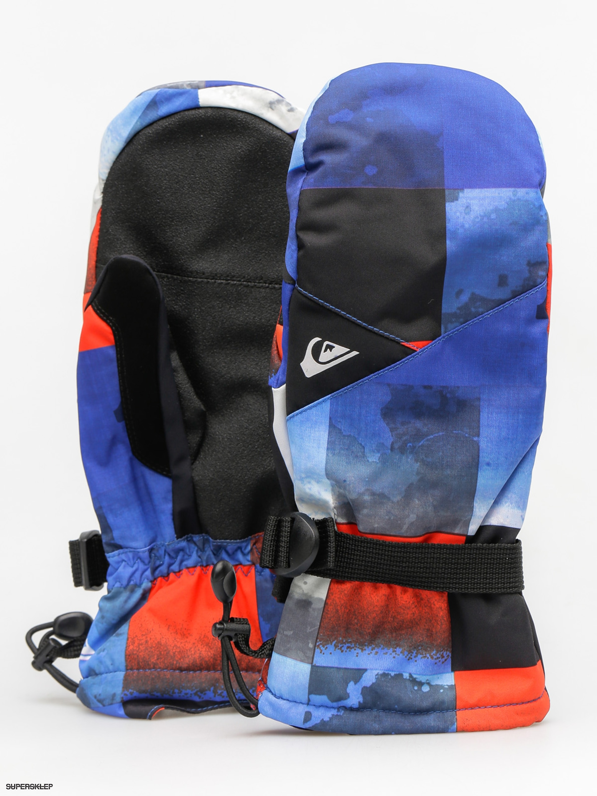 Rukavice Quiksilver Mission Mitt (blue red icey check)